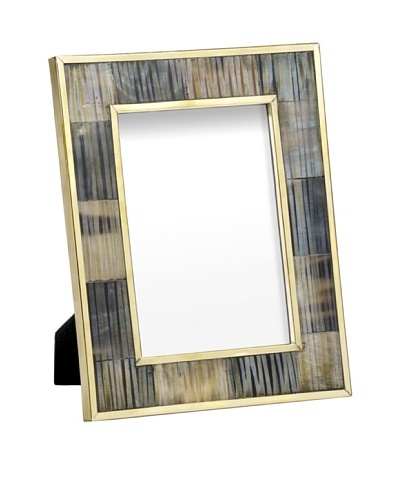 Mela Artisans Inlaid Bone Zambia Photo Frame, 5 x 7