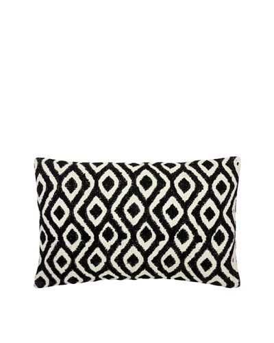 Mela Artisans Reva Silk Lumbar Pillow, Black