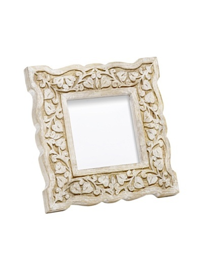 Mela Artisans Hand Carved Jasmine Photo Frame, 4 x 4