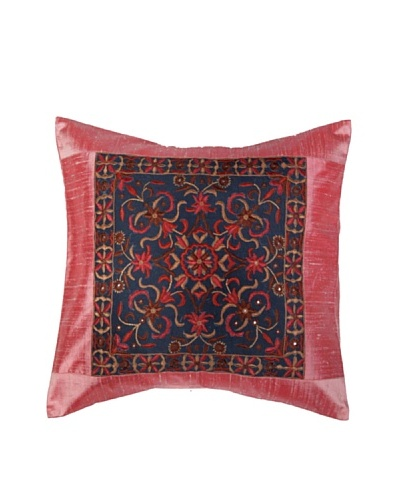 Mela Artisans Constellation Silk Cushion Cover, Pink