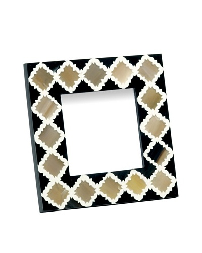 Mela Artisans 4 x 4 Inlaid Bone Morocco Photo Frame