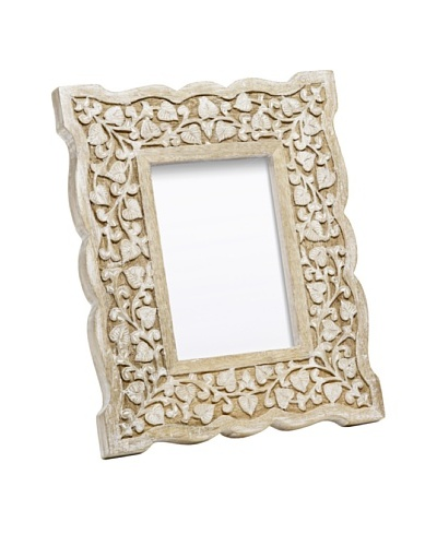 Mela Artisans Hand Carved Jasmine Photo Frame, 5 x 7