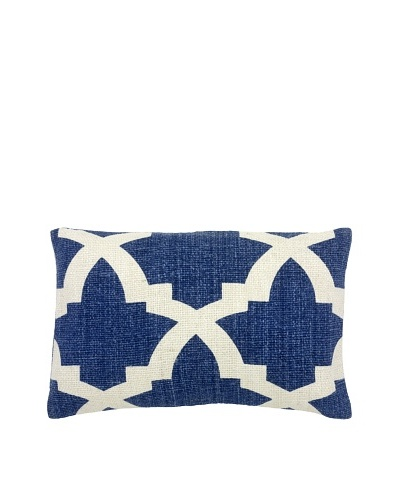 Mela Artisans Ava Silk Lumbar Pillow, Indigo