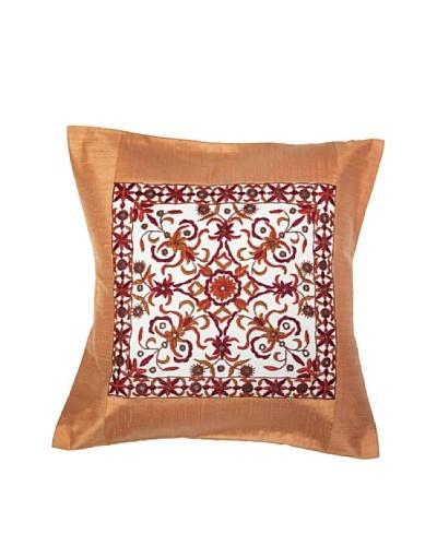 Mela Artisans Constellation Silk Cushion Cover, Tan
