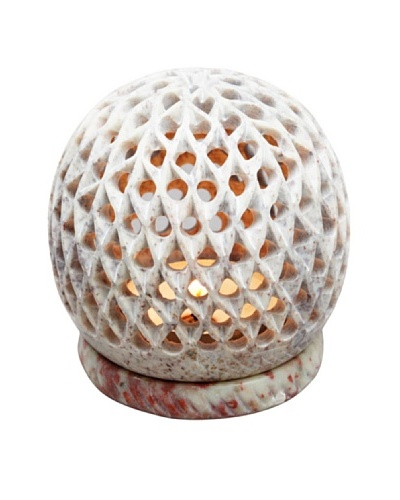 Mela Artisans Global Flame Tea Light Holder