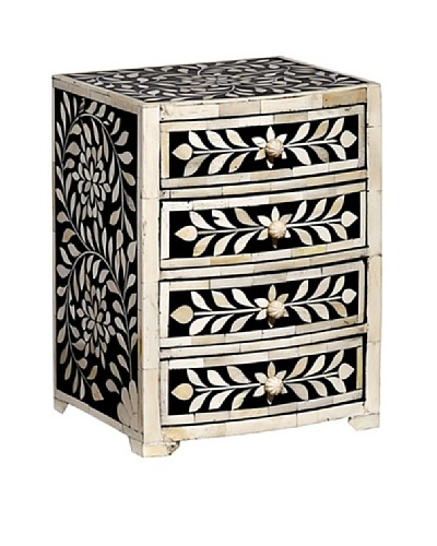 Mela Artisans Imperial Beauty Keepsake Chest, Black/White