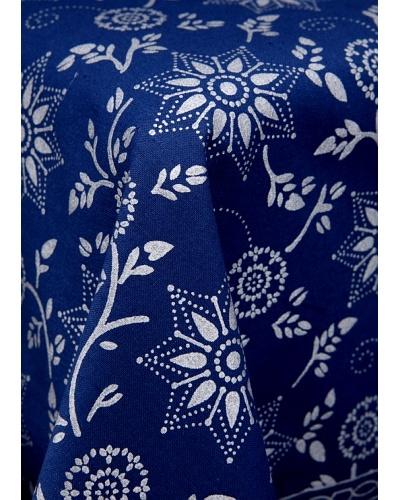 Mela Artisans Kavita Floral Tablecloth, Blue