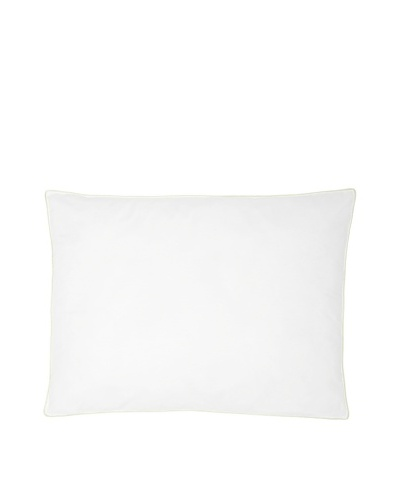 Mélange Home Medium Firm-Density Down Alternative Pillow, White/Green, Standard/Queen