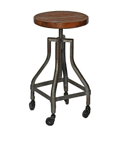 Melange Home Reevolution- Revolving Bar Stool on Wheels
