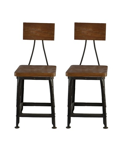 Melange Home Set of 2 Reevolution Chairs, Wood