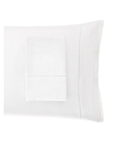 Melange Home Linen Hemstitch Pillowcase Set