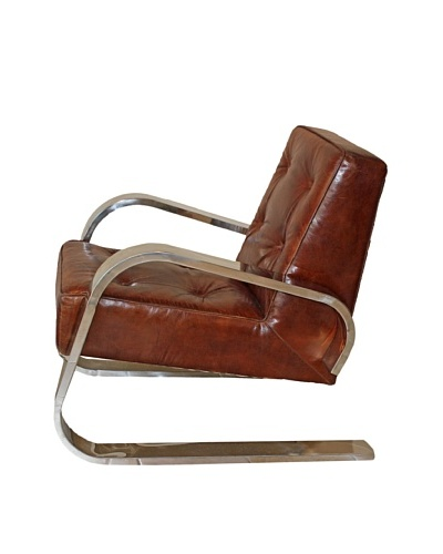 Melange Home Brighton Chair, Vintage Brown
