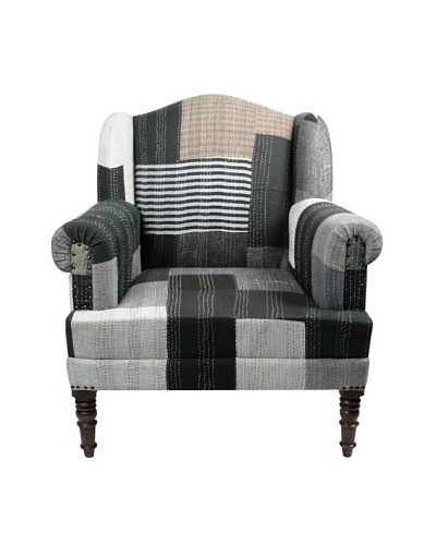 Melange Home Bengali One-of-a-Kind Chair, Black Multi