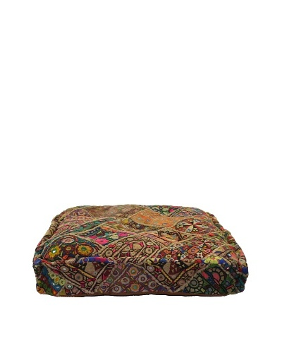 Melange Home Yoga Pillow, Large, Old Jati