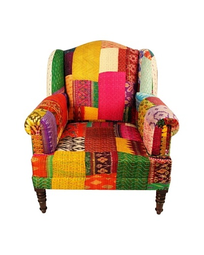 Melange Home Bengali One-of-a-Kind Chair, Mixed Ikat