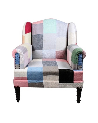 Melange Home Bengali One-of-a-Kind Chair, Pastel Multi