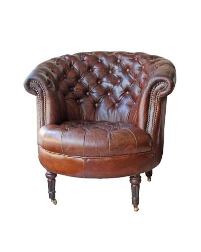 Melange Home Barrel Chair, Vintage Brown