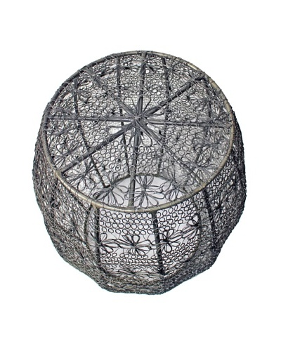 Melange Home Crochet Wire Barrel Stool