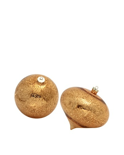 Melrose Set of 2 Antiqued Ornaments