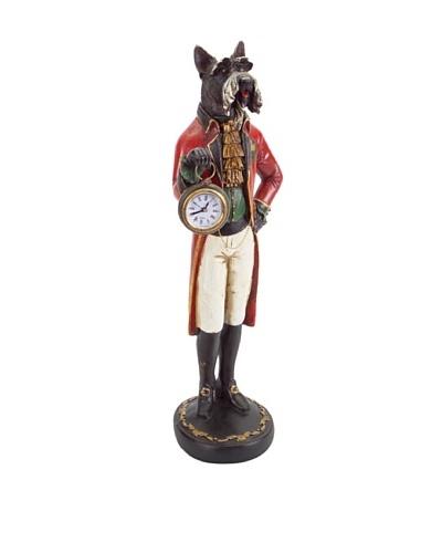 Melrose Dog With Clock Figurine