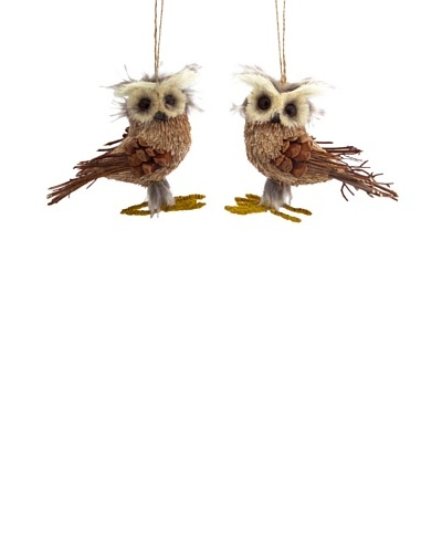 Melrose Set of 2 Owl Ornaments