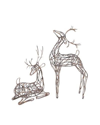 Melrose Set of 2 Reindeer Sculptures