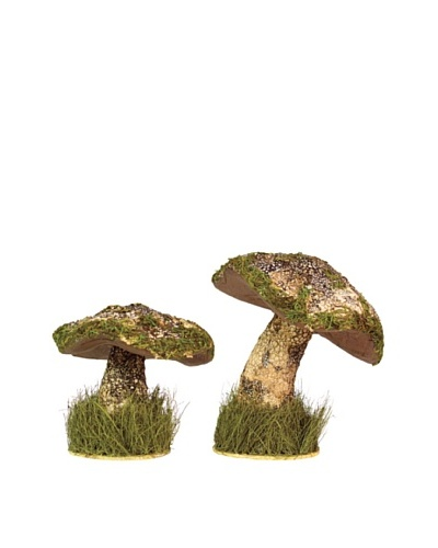 Melrose International Set of 2 Decorative Mushrooms