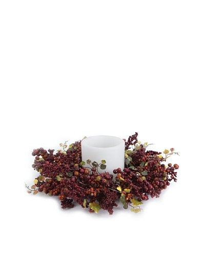 Melrose International Berry & Grape Leaf Candle Ring