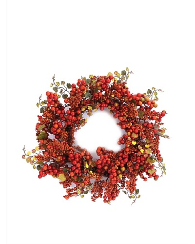 Melrose International 22 Grape Leaf & Berry Wreath