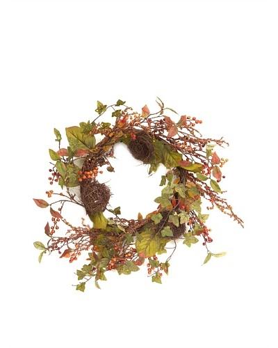 Melrose International 24 Wreath with Nest & Berries