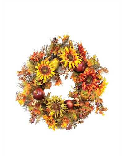 Melrose International 26 Sunflower, Fruit & Berry Wreath