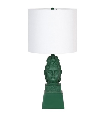 Mercana Pokhara Table Lamp, Green/Natural