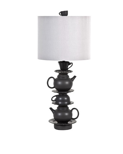 Mercana Keenie Table Lamp, Gray/Black
