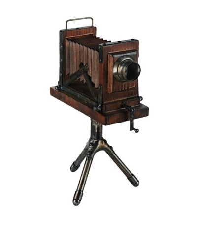 Mercana Frozen in Time Wood & Metal Decorative Camera