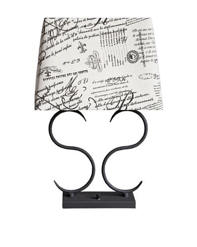 Mercana Escalon Table Lamp, Black/Natural