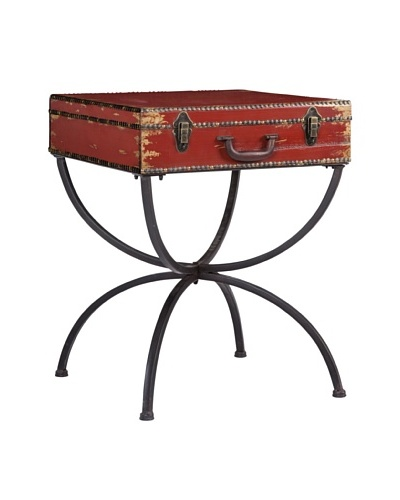 Mercana Nelson Trunk Table, Red/Black