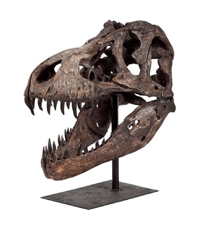 Mercana Lagrane Reptilian Head Tabletop Sculpture on Stand