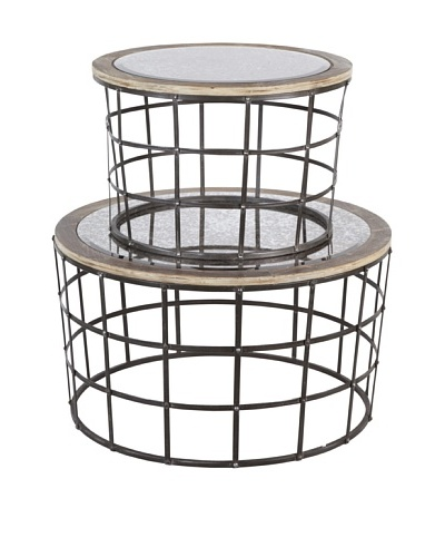 Mercana Gaiola Set of 2 Mirror Cage Tables