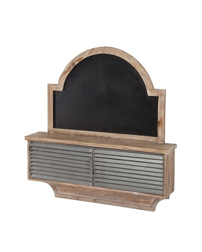 Mercana Jamin Chalkboard Cubby, Brown/Black