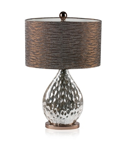 Mercana Pica Table Lamp, Silver/Copper