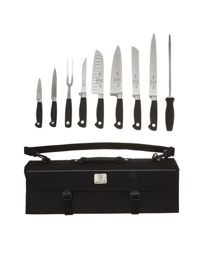 Mercer Cutlery Genesis 10-Piece Forged Knife Set with Case [Steel/Black]