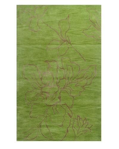 Meva Rugs Flora Rug, Green, 5' x 8'
