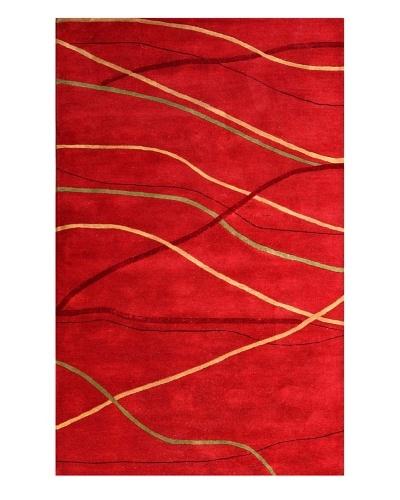 Meva Rugs Sway Rug, Red, 5' x 8'
