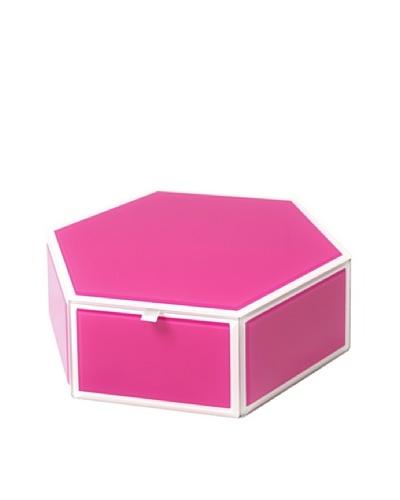 Mia Collection Glass Hexagon Storage Box