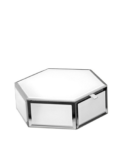 Mia Collection Glass Hexagon Storage Box