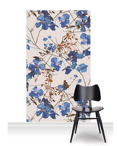 Michael Angove Clematis Powder Blue Standard Mural [Accent]