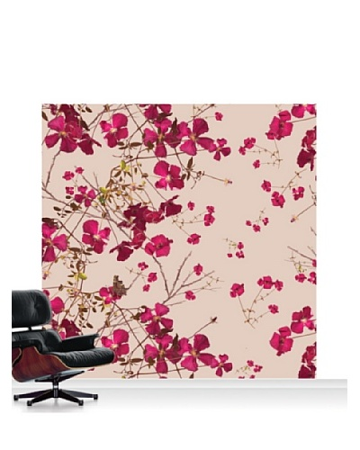 Michael Angove Clematis Claret Standard Mural - 8' x 8'
