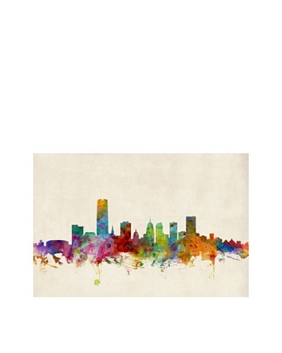 Trademark Fine Art Oklahoma City Skyline by Michael Tompsett