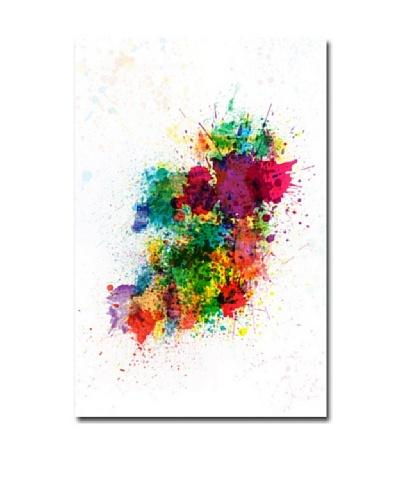 Michael Tompsett Ireland Paint Splashes Canvas Art