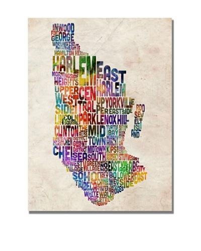 Michael Tompsett Manhattan Typography Map Canvas Art
